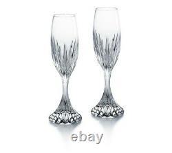 BACCARAT crystal France MASSENA Champagne or wine FLUTES