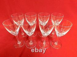 BACCARAT crystal GENOVA CLEAR CLARET WINE GOBLET or GLASS 6-1/2 Set of 8 MINT