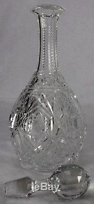 BACCARAT crystal LAGNY CLEAR pattern WINE DECANTER with STOPPER