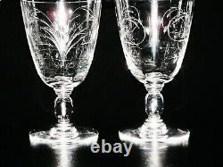 Baccarat 19th Century Cut Pressed Crystal Beer / Wine Glasses