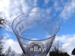 Baccarat 6 Wines Glasses Crystal 6 Verres A Vin Cristal Gravé 3458 19éme Xixém