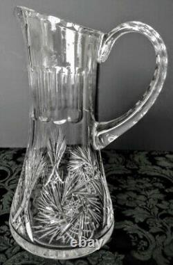 Baccarat Antique Rare 1930's High End Elaborate Crystal Red Wine Ewer-Pitcher