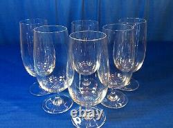 Baccarat Crystal 6 3/4 Montaigne Tall Goblets Wine Water Glass Set Of 6