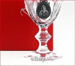 Baccarat Crystal Black Medalion Goblet Harcourt Royal Palais France Wine Glass