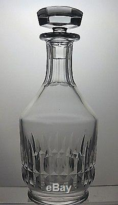 Baccarat Crystal Canterbury Cut Glass Round Wine Decanter -signed-10 Tall
