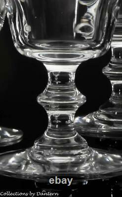 Baccarat Crystal Embassy Water / Wine Goblets, Set of 4