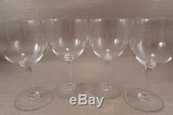 Baccarat Crystal France MONTAIGNE Non Optic Claret Wines Set of Four