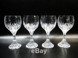 Baccarat Crystal France Massena 4 6.5 Red Wine Goblets
