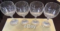 Baccarat Crystal Massena Glasses Tall Water Wine Glasses Goblets Set Of 4 Mint