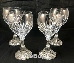 Baccarat Crystal Massena Red Wine Glasses Flawless 6.4 France Stemware Lot Of 4