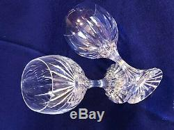 Baccarat Crystal, Massena Water/American White Wine Goblets (pair)