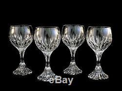 78ea6a1a754 Baccarat Crystal Massena Wine Glasses Goblets Mint