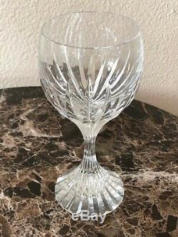 Baccarat Crystal Massena Wine / Water Glasses SET of FOUR 6.25 Tall