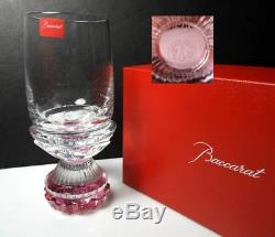 Baccarat Crystal VARIATION Pink Red Wine Glass/Goblet, New with Box