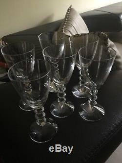 Baccarat Crystal VEGA Set Of 6 Wine Glasses