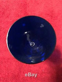 Baccarat Crystal Vega Wine Glass COBALT BLUE 9 Tall (no box)