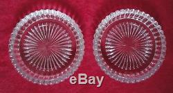 Baccarat Crystal Wine Bottle Coasters Set of 2 Rosace Pattern France COA Vintage