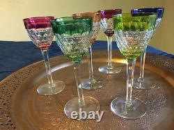Baccarat Crystal harlequin flash Wine Glass 19.2 cm high set of 6 glasses