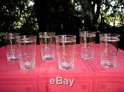 Baccarat Ecaille Et Filet 6 Wine Crystal Glasses Gobelet A Vin Champagne Cristal