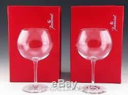 Baccarat France Crystal 7.5 TASTEVIN POMMARD BURGUNDY WINE GLASSES PAIR in Box