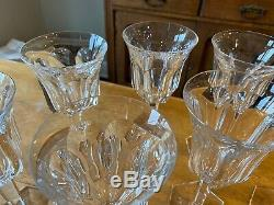 Baccarat France Crystal MALMAISON Lot Of 10- 6 3/4 WINE GOBLETS GLASSES