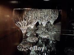 Baccarat French Crystal Massena 6 3/8 Claret Wine Glasses (7) Handmade France