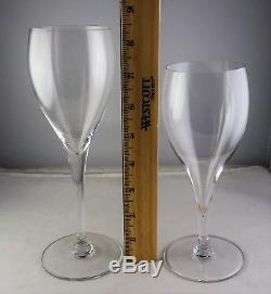 Baccarat French St Remy Crystal 2 Water Glasses, 4 Wine Goblets