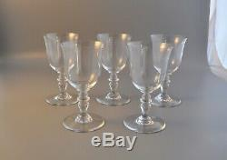 Baccarat Glass Set Of 5 Claret Wine Glasses Provence France Crystal