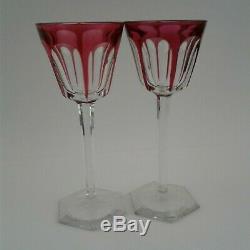 Baccarat Harcourt Crystal Wine Glasses Set of 12