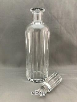 Baccarat Harmonie Crystal Whiskey Wine Decanter Stopper Signed Blown Glass 12.6