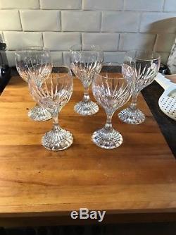 Baccarat Massena 5 Crystal Water Wine Goblet Glass