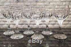 Baccarat Massena Crystal White Wine Glass, Set Of 6. Great Condition