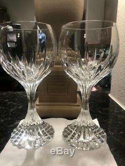 Baccarat Massena Wine/Water Goblets 7 1/4 Set Of 2 EUC (No Trim)