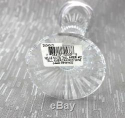Baccarat Mille Nuits Tall Red Wine #2 Crystal Glass, Made in France