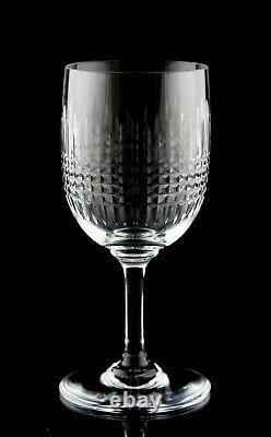 Baccarat Nancy Claret Wine Glasses Set of 6 Vintage Cut Crystal France