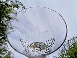 Baccarat Nemours 6 Wine Crystal Glasses 6 Verres A Vin Cristal Taillé Richelieu