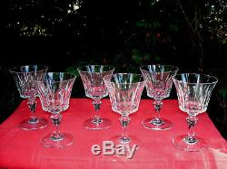 Baccarat Piccadilly 6 Wine Crystal Glass Glasses 6 Verres A Vin Cristal Taillé Z