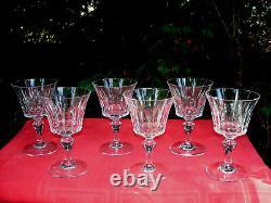 Baccarat Piccadilly Wine Crystal Glasses Weingläser Verre A Vin Cristal Taillé F