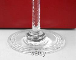 Baccarat Super Rare Hand Made Vallee Red Wine #3 Crystal Glass France New Box