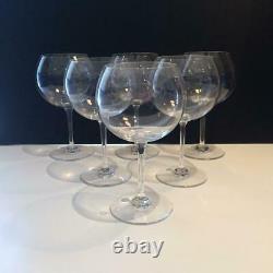 Baccarat Tastevin Crystal Set Of 6 Burgundy Wine Glasses Cr1799