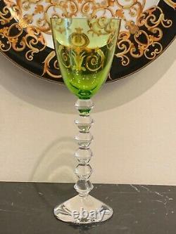 Baccarat Vega Olive Green Wine Glass