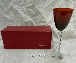 Baccarat Vega Wine Glass Red 9 with box