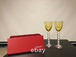 Baccarat wine glasses Pair
