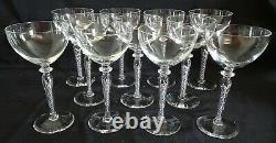 Blefeld Portugal Swirlette Set of 11 Wine Stems Air Twist Stem