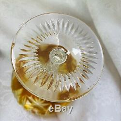 Bleikristall Cut To Clear Vintage Wine or Sherbet Crystal Stems Multi Color AJKA