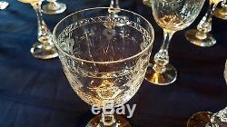 Boda Crystal Cut Glass Set Mac Guirlang by Fritz Kallenberg Wine Champagne