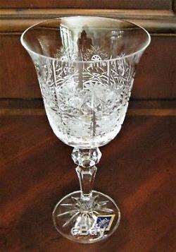 Bohemia Crystal set of 6 Wine Glasses 170ml, Hand Cut, Czeck Republic
