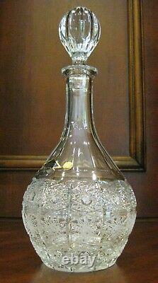 Bohemian Vintage Czech Crystal Wine Bottle 950 ML Hand-cut Queen Lace Glass