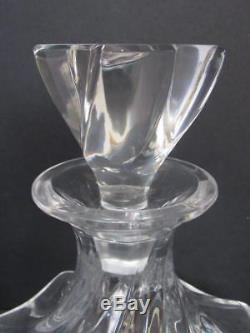 Brilliant LALIQUE ABERDEEN Swirl Crystal DECANTER Glass Wine/Scotch #13304 N/R