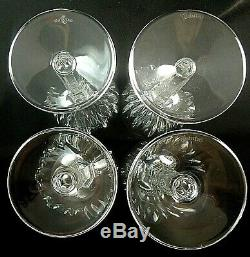 CARINA by Waterford Crystal CLARET WINE GLASSES 7 1/8 Set of 4